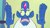 S2E23 Glossaryck looks at his polka-dotted bandaid