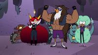 S4E22 Hekapoo, Talon, and Kelly cheer for Quirky
