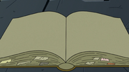 S2E41 Magic Instruction Book with blank pages