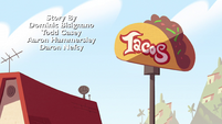 S2E7 Britta's Tacos sign