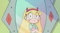 S2E40 Star Butterfly looking at her reflection