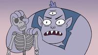 S3E19 Ulric holding a skeleton