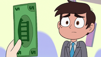 S3E34 Marco looking at the last 5 dollar bill