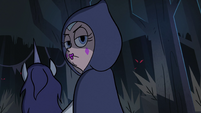 S2E40 Queen Moon looking back at flytrap monster
