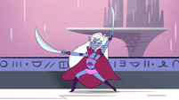 S4E28 Wyscan the Granter posing with swords
