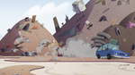 S2E24 Marco and Pony Head's car crashing to a stop