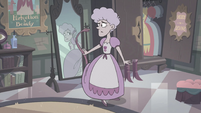 S3E33 Teenage Meteora looks at her tail in the mirror