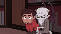 S4E13 Marco Diaz sitting in Relicor's lap