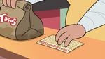 S4E26 Sensei gives bag of tacos and Marco's card