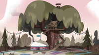 S4E8 View of Moon and River's wilderness camp