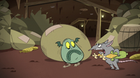 S2E20 Rat squeaking angrily at Buff Frog