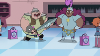 S3E15 Baby Man giving Lady Whosits a new sword