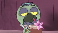 S3E3 Ludo drinking a coconut drink