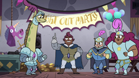 S4E18 Stabby begins the knight out party