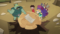 S2E28 Buff Frog shows map to Star and Marco
