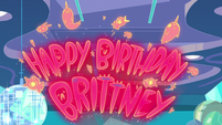 S1E10 'Happy Birthday, Brittney' in neon lights