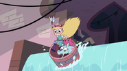 S3E8 Star and Pony Head going over a waterfall