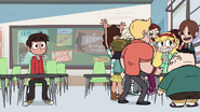 S1E3 Students crowd around Star