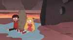S4E2 Star and Marco wash up completely wet