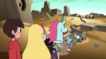 S2E13 Star, Marco, and Pony Head look at the long line