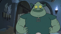 S3E7 Buff Frog standing in front of Marco