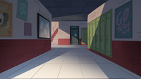 School Spirit background - Echo Creek Academy dim hallway