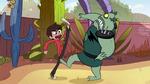 S1E16 Marco kicking Buff Frog