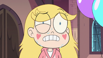 S3E25 Star Butterfly sweating with worry
