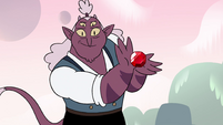S4E23 Globgor presents a large ruby in his hands
