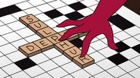 S4E6 Exasperella puts down an 'R' tile