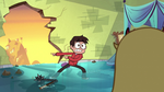 S1E3 Marco points at a hole in the wall
