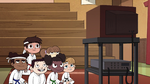 S2E37 Marco and karate class watching the video