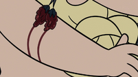 S3E27 King Butterfly drawing on his right arm