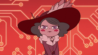 S3E29 Eclipsa glaring at the High Commission