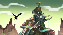 S3E3 Eagle and spider flying to the temple
