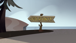 S1E6 Road sign points in the opposite direction