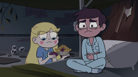 S4E1 Marco holding his pained stomach