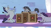 S4E21 Warnicorns happy over crates of syrup