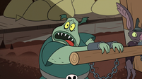 S2E20 Buff Frog agreeing to be chained up