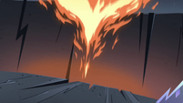S4E5 Giant fireball flying out of the chasm