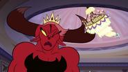 S3E10 Wrathmelior hits her horn on the chandelier