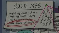 S4E16 Explanation of cornball rule 375