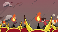 S2E31 Marco slides down the hill toward Hekapoos