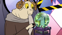 S2E25 Image of Toffee appears on Omnitraxus' orb