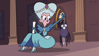 S3E28 Queen Butterfly holding the spider
