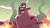 S4E24 Globgor roaring angrily at the sky