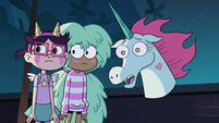 S2E41 Pony Head, Kelly, and StarFan13 looking sad