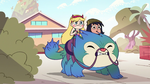 S2E16 Star and Janna on a porcupine beast