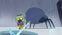 S2E2 Ludo shoots web into the ice hole
