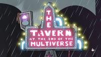 S4E36 Tavern at the End of the Multiverse sign